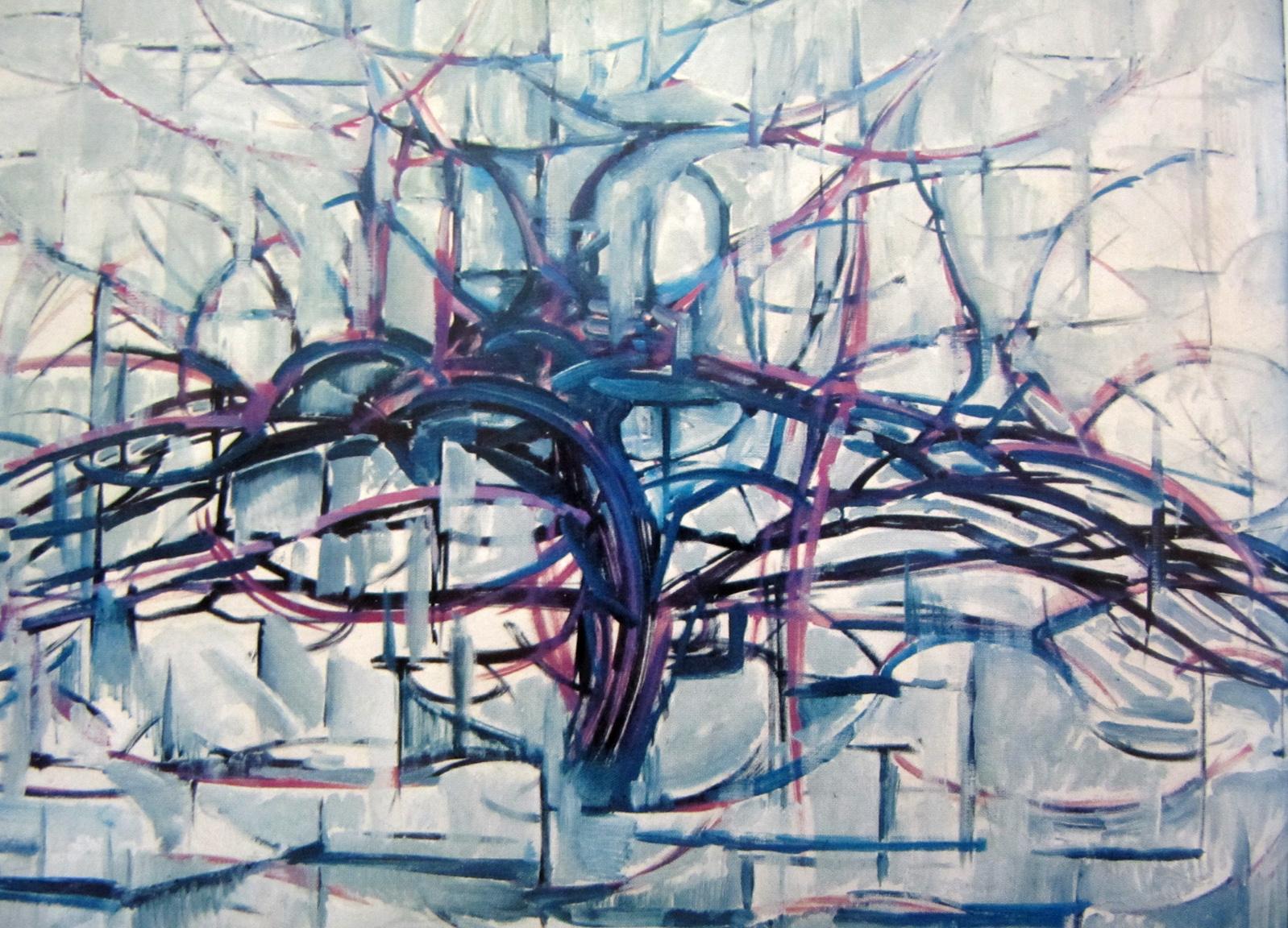 Blue Line Art Painting : Piet mondrian line over form lisa thatcher