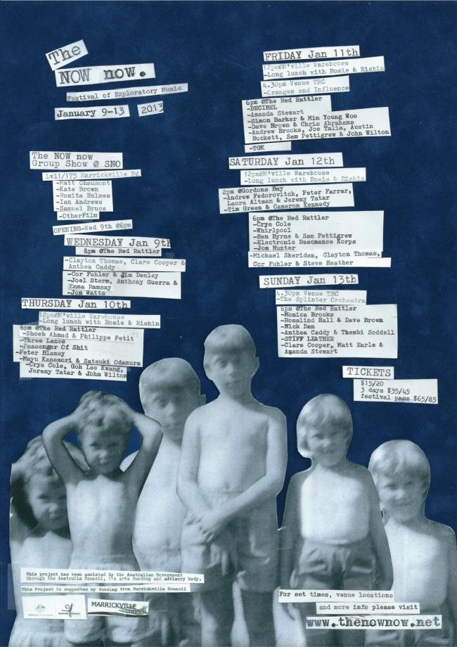 NOW now festival program poster