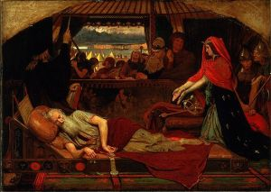 Ford Maddox Brown's Cordelia at the bedside of Lear. (The expression on the face of The Fool gives me goosebumps every time)