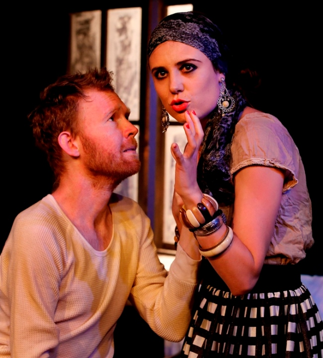 Dying For It - Johann Walraven and Margarita Gershkovich. Photograph (c) Bob Seary