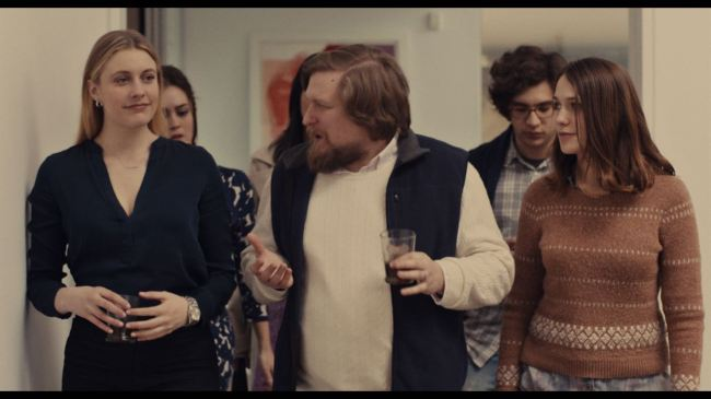 "(L-R) Greta Gerwig as ""Brooke,"" Heather Lind as ""Mamie-Claire,"" Cindy Cheung as ""Karen,"" Michael Chernus as ""Dylan,"" Matthew Shear as ""Tony"" and Lola Kirke as ""Tracy"" in MISTRESS AMERICA. Photo courtesy of Fox Searchlight Pictures © 2015 Twentieth Century Fox Film Corporation All Rights Reserved"