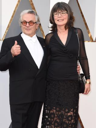 George Miller and wife Margaret Sixel arrive at the Oscars.Source:AP